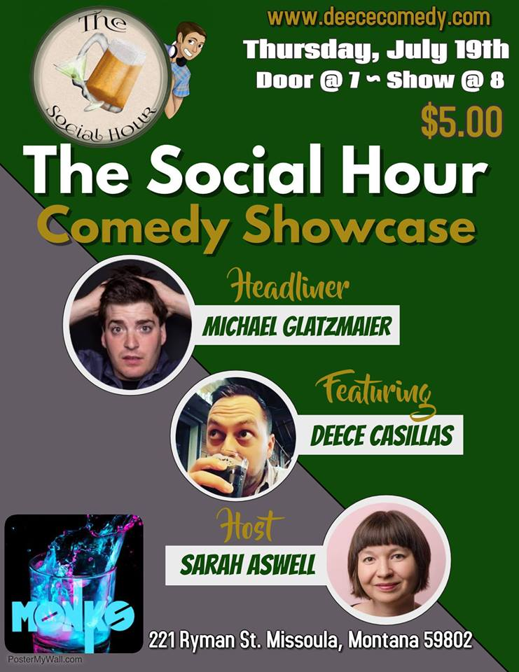 The Social Hour Comedy Showcase at Monk's @ Monk's