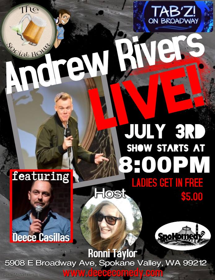 The Social Hour Comedy Showcase Presents: Andrew Rivers @ Tab'z on Broadway