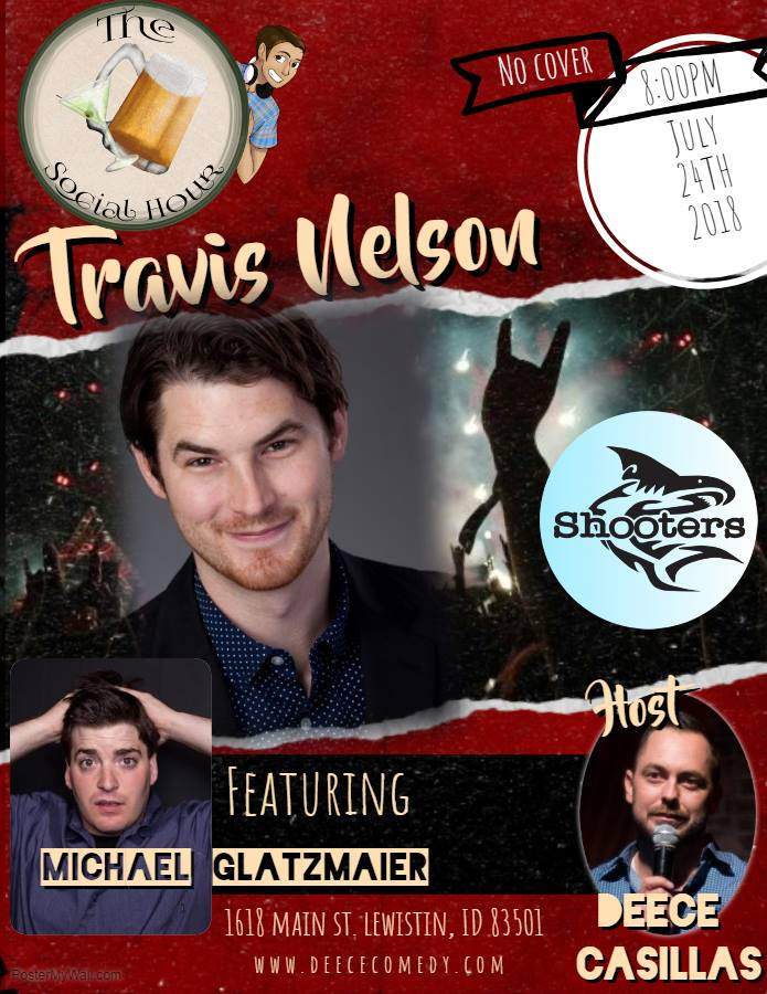 The Social Hour Comedy Showcase Presents: Travis Nelson @ Shooter's Sports Bar