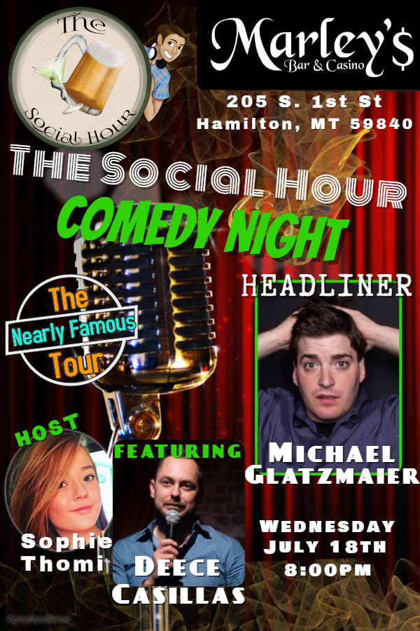 The Social Hour Comedy Showcase at Marley'$ @ Marley'$ Bar & Casino