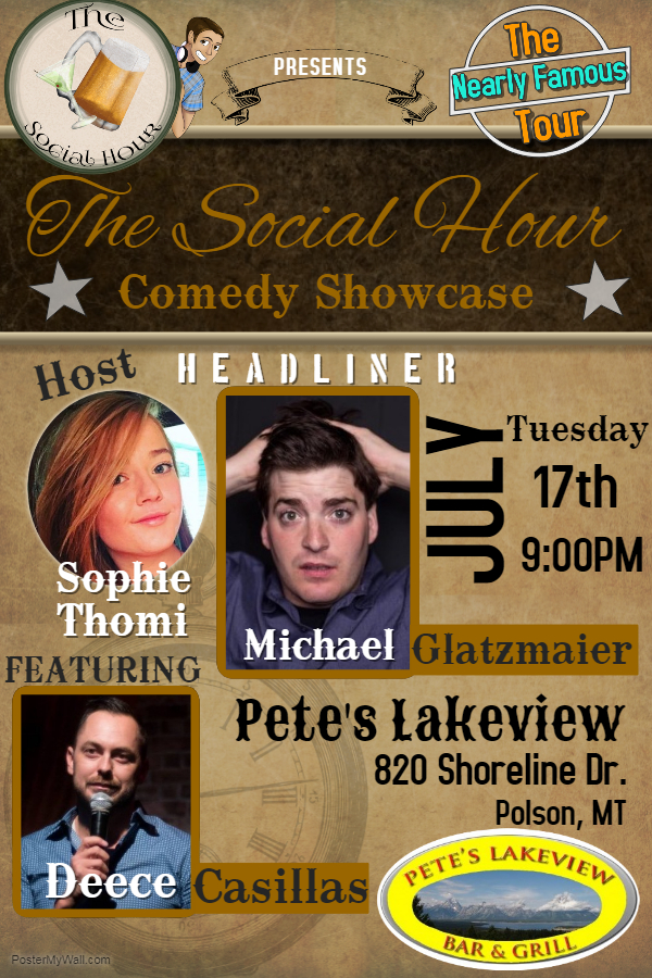 The Social Hour Comedy Showcase at Pete's Lakeview Bar @ Pete's Lakeview Bar & Grill