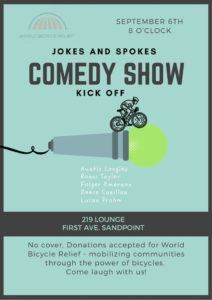 Jokes and Spokes Comedy Show @ 219 Lounge
